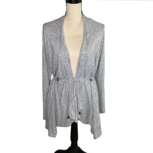 Simply Vera Heather Gray Waterfall Cardigan !